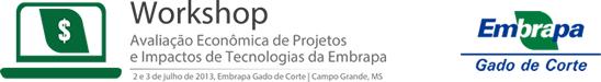 Logo Workshop em Avaliação Econômica de Projetos e Impacto de Tecnologias da Embrapa